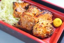 炭火で焼いた豚肉の味噌焼き750円