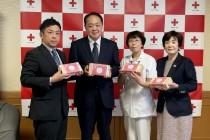 赤十字手まり贈呈